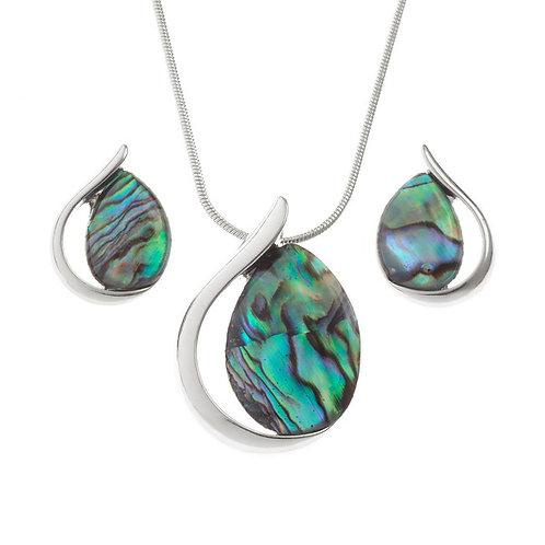 Tear Drop pendant & earring set