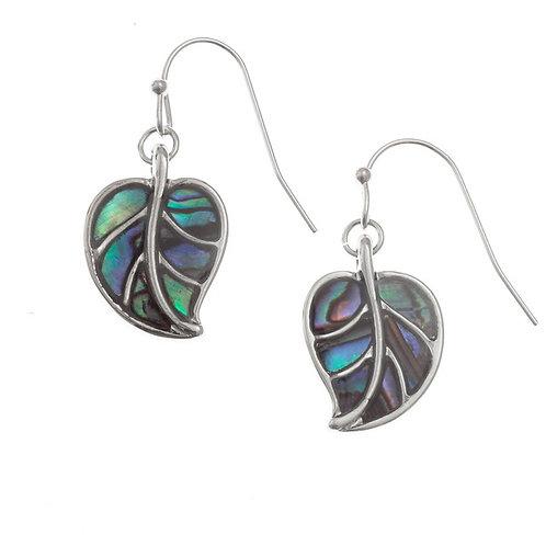 Leaf hook earrings