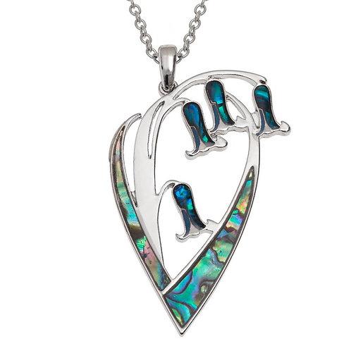Bluebell flower pendant & chain