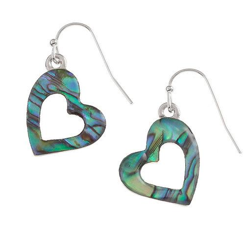 Open heart hook earrings