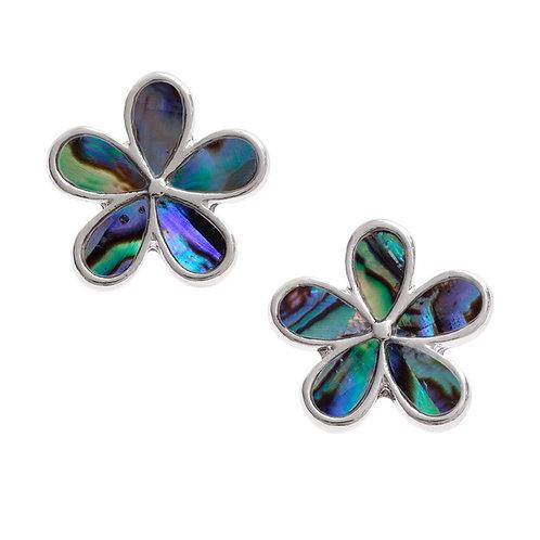 Flower petal hook earrings