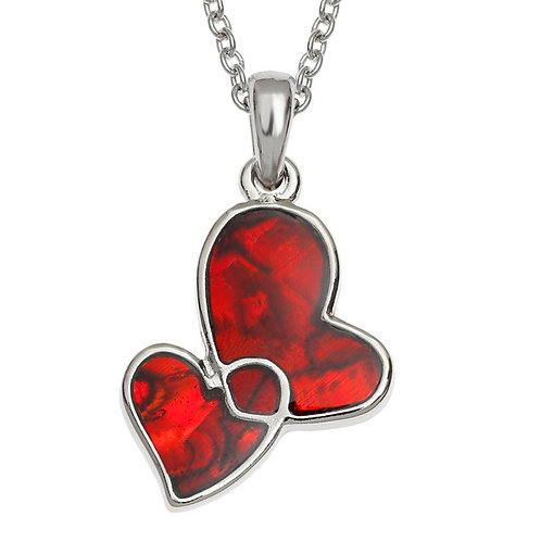 Entwined hearts pendant & chain