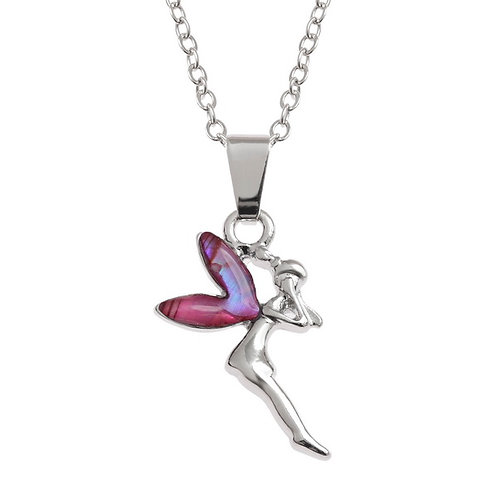 Pink Fairy pendant & chain