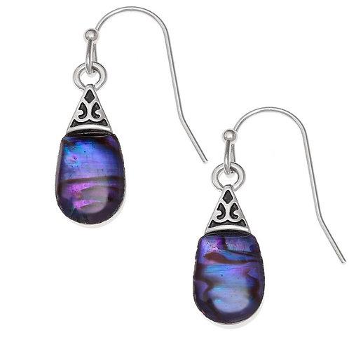 Pear drop earrings - purple