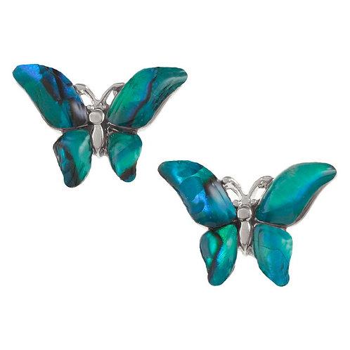 Butterfly stud earrings ~ blue