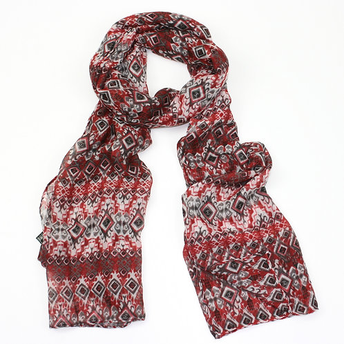 Diamon effect scarf ~ red