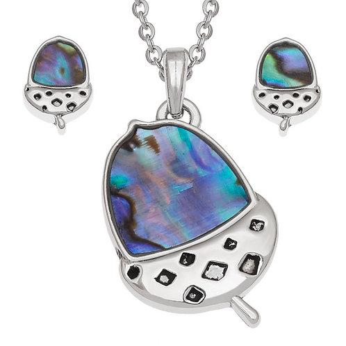 Tide Jewellery Acorn pendant & stud earring set