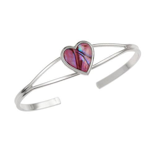 Heart bangle ~ pink