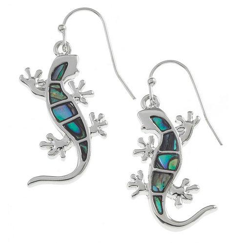 Gecko hook earrings