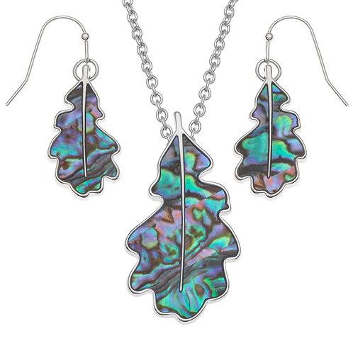 Tide Jewellery Oakleaf pendant & earring set