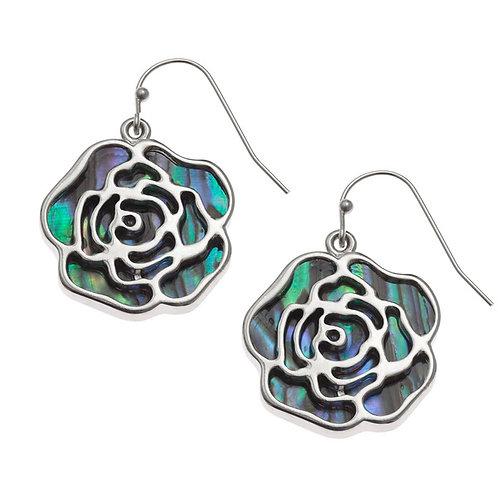 Rose hook earrings
