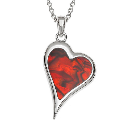 Assymetric heart pendant & chain