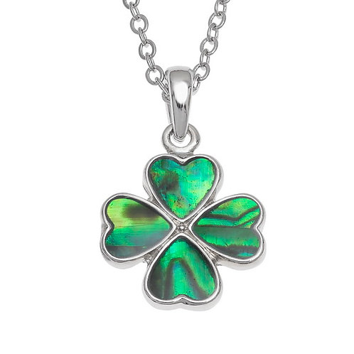 Four leaf clover pendant & chain