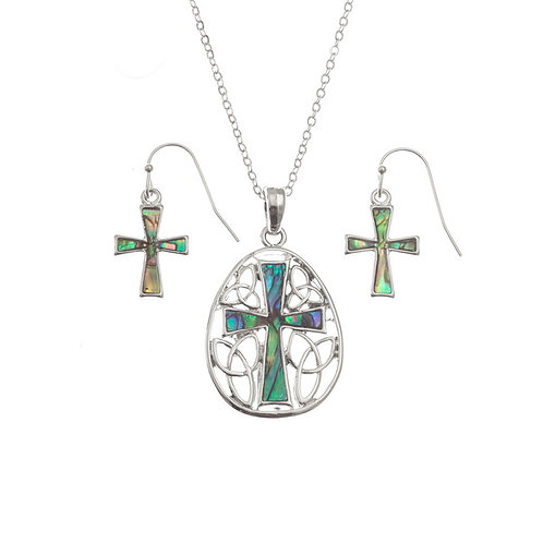 Cross in Celtic Knot surround set