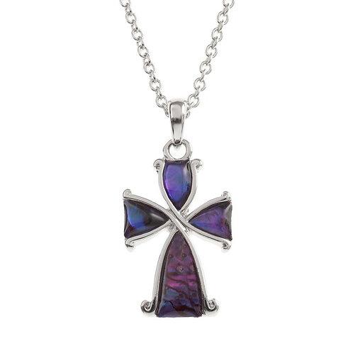 Tide Jewellery Purple Cross pendant & chain