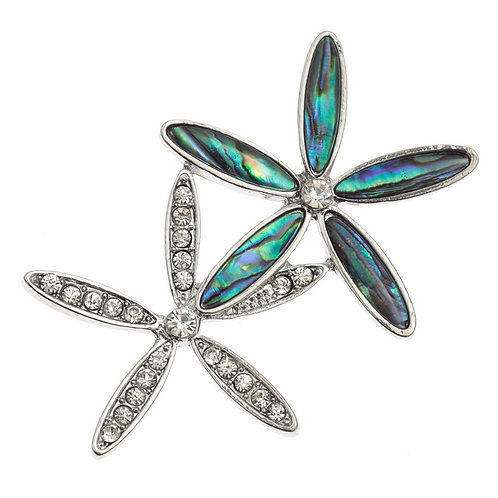 Double Flower brooch