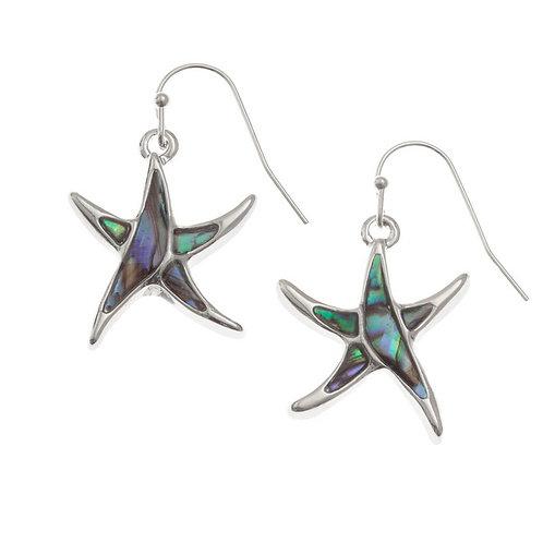 Starfish hook earrings