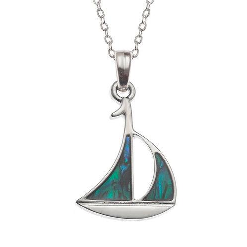 Sailboat pendant & chain