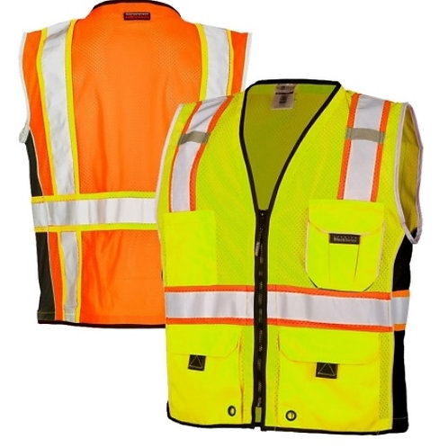 ML Kishigo 1513/1514 Black Series Class 2 Heavy Duty Safety Vest