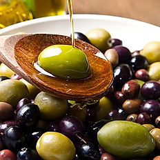 Assortiment of marinated olives