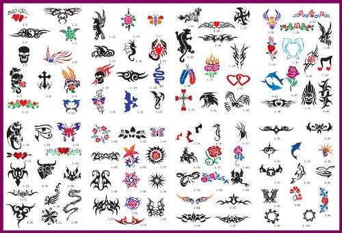 Temporary Tattoo Design Options