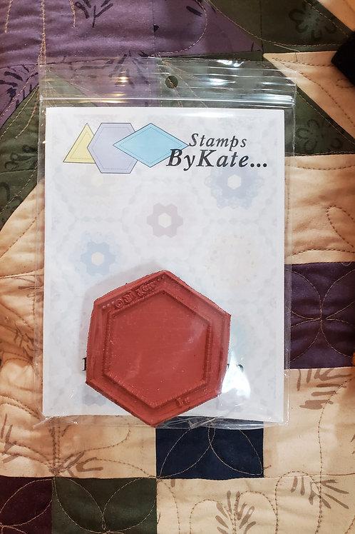 """1"""" Hexagon Stamp"""