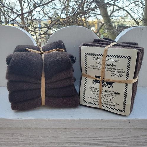 Teddy Bear Brown Wool Bundle