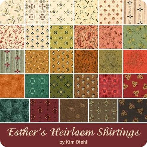 Esther's Heirloom Shirtings Fat Quarter Bundle