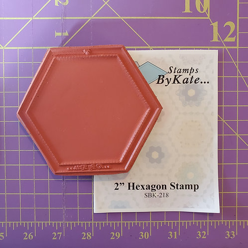 """2"""" Hexagon Stamp"""