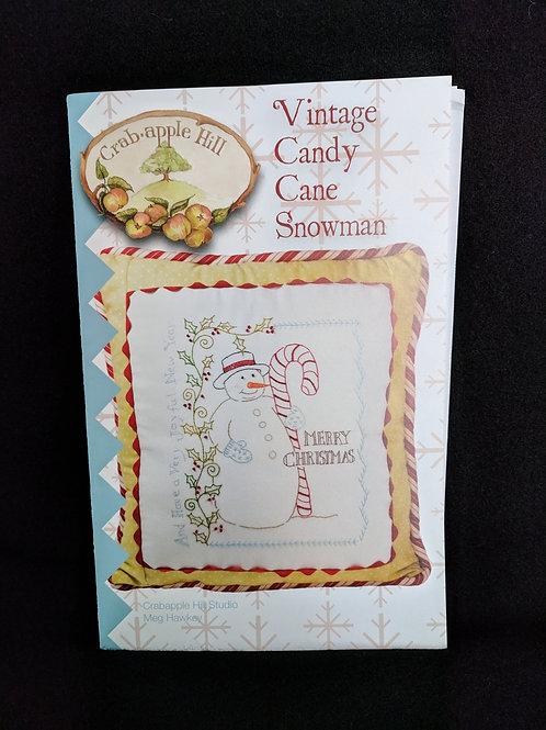 Vintage Candy Cane Snowman