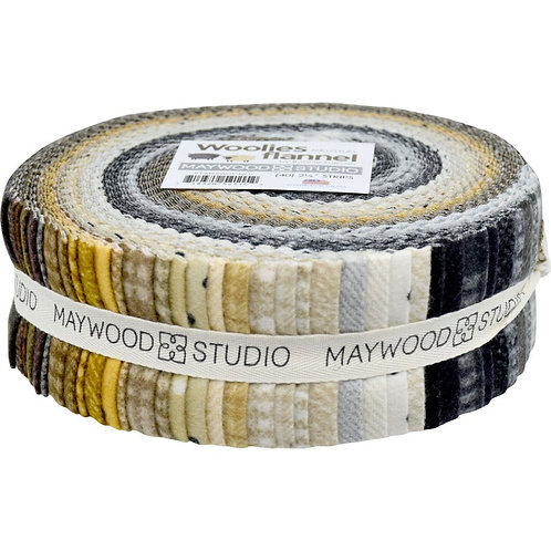 "Woolies Flannel Jelly Roll - ""Neutrals"""