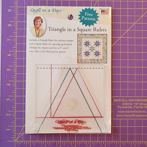 Triangle in a Square Ruler Set