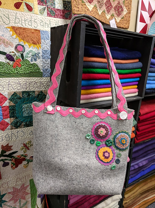 Wooly Felted Wonders Large Tote