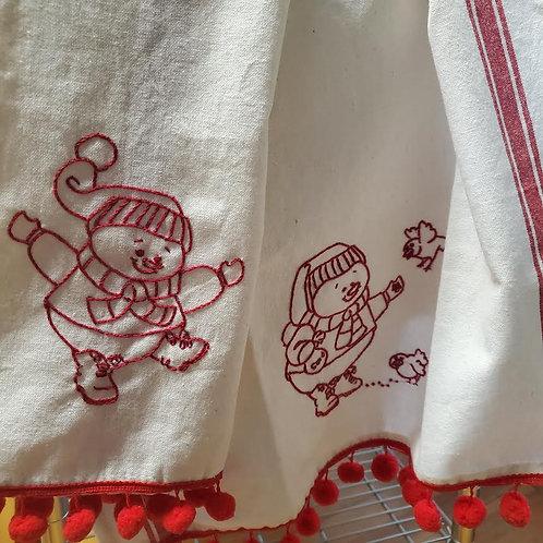 Snowmen Tea Towels
