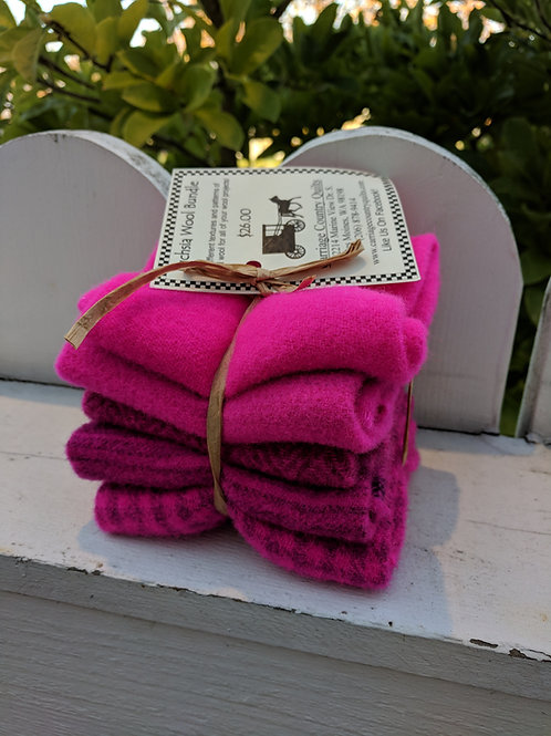 Fuchsia Wool Bundle