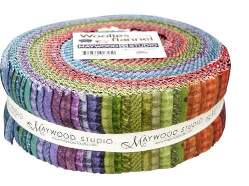 """Woolies Flannel Jelly Roll - """"Colors"""""""