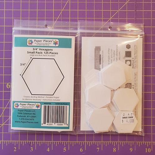 """3/4"""" Hexagons"""