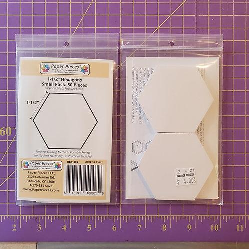 """1.5"""" Hexagons"""