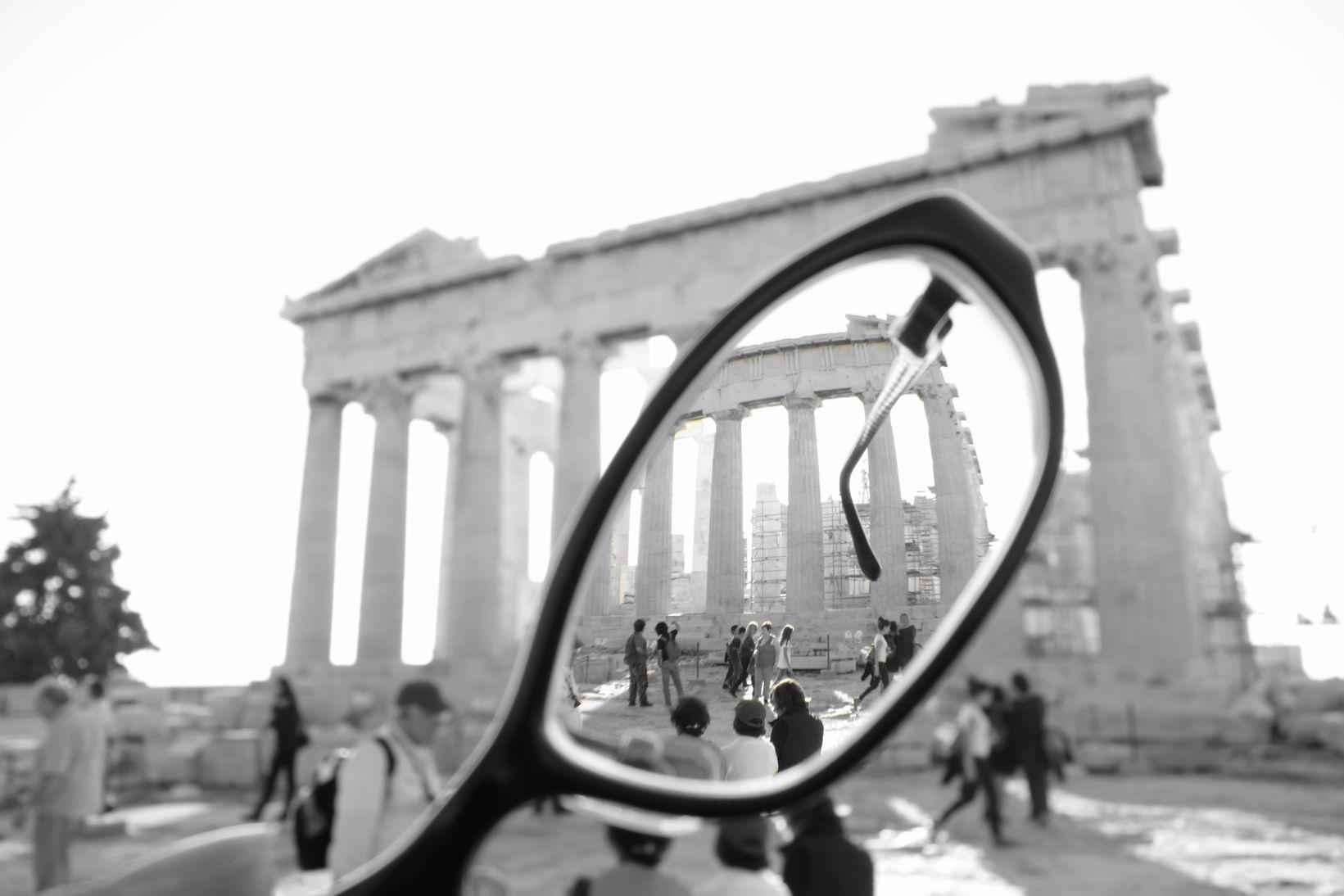 Parthenon in the Glasses