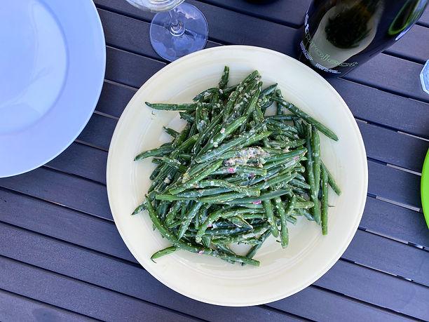 spring roll salad / green bean salad