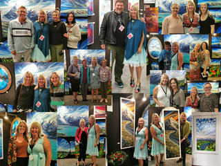Chch art show friends, buyers & supporters - thank you all :-)
