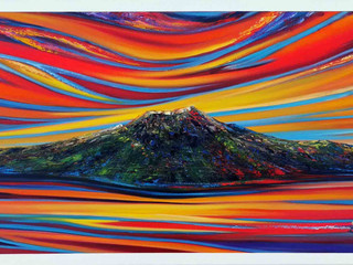 "Go 'Team New Zealand""  Magnificent City of Sails - still available, oil on canvas 20x60inch $1945.00"