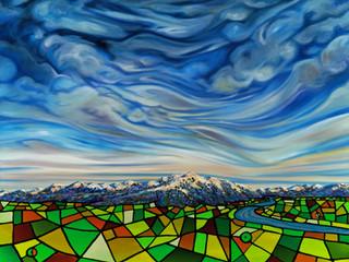 Creating new large artworks for Christchurch Art Show, 9/11 April @ Wigram