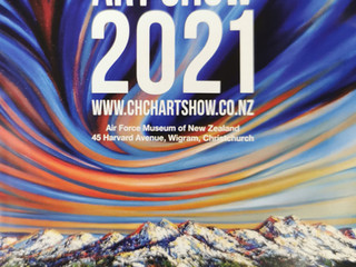 My most successful Chch Art Show yet (check out the award winning art on the catalogue cover!)