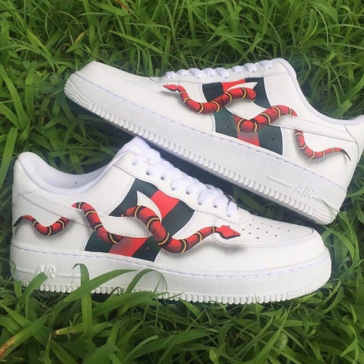 Gucci Snake Air Force 1\u0027s