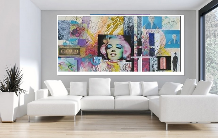 Large Marilyn Monrow mixed media Painting