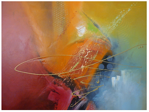 Beautiful Vivid color canvas painting