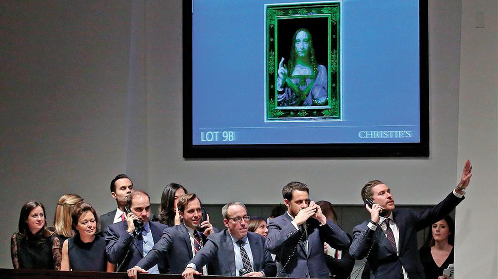 Leonardo Da Vinci Salvator Mundi Auction