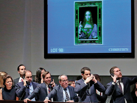 """what is the fass about Christie's """"Salvator Mundi,"""