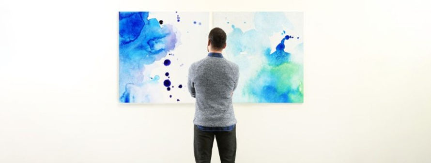 Man Looking at Poor executed art